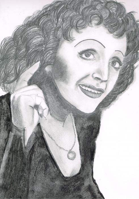 Edith Piaf by grasshopers